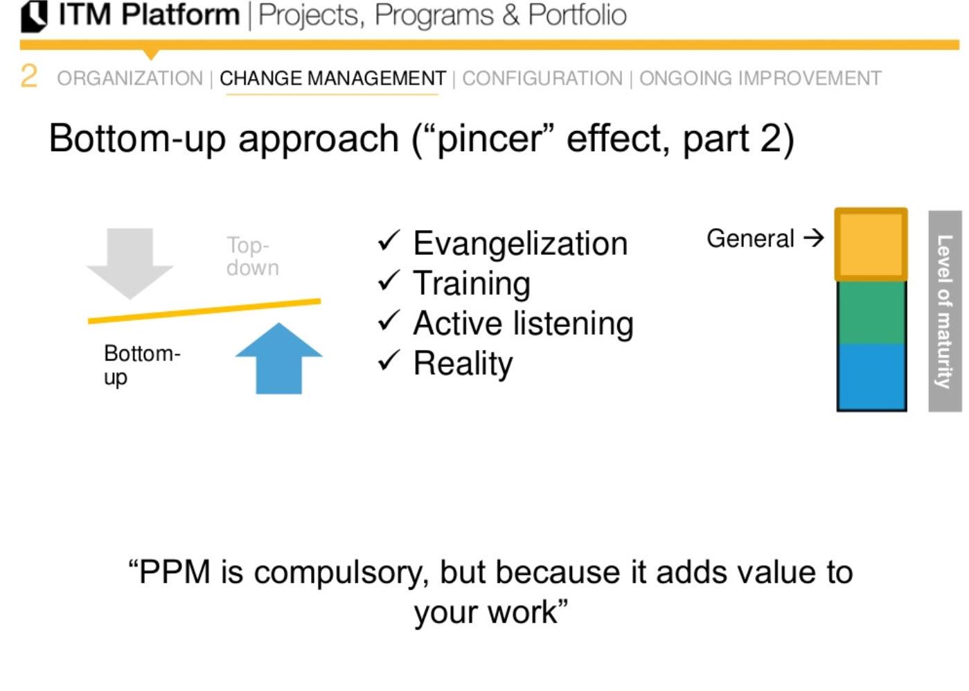 """bottom-up approach (""""pincer"""" effect, part 2)"""