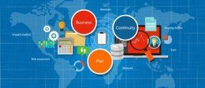 una mapa donde se ilustra la evaluación de la estrategia de gestión del plan de continuidad del negocio