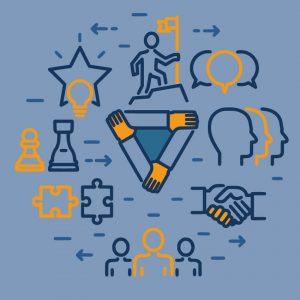 team, puzzle, star, bubbles, conversation, chess