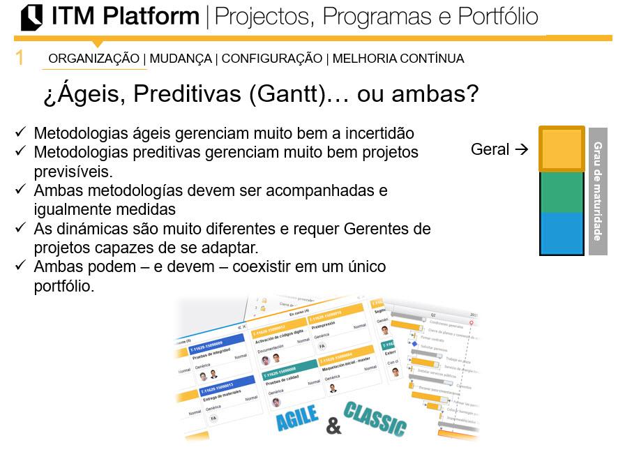ITM Platform, Ágeis, Preditivas (Gantt)... ou ambas?