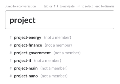 project, Slack