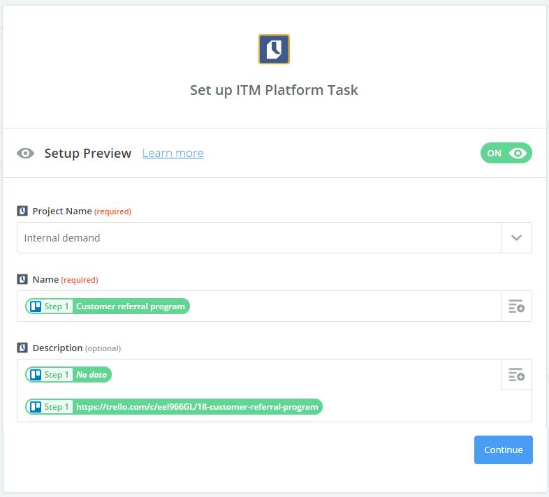 Configurar ITM Platform task