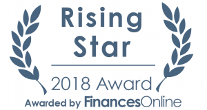 Rising star, awarded by FinancesOnline