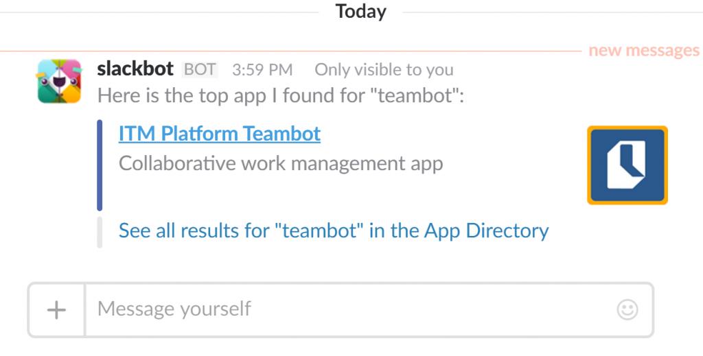 ITM Platform Teambot