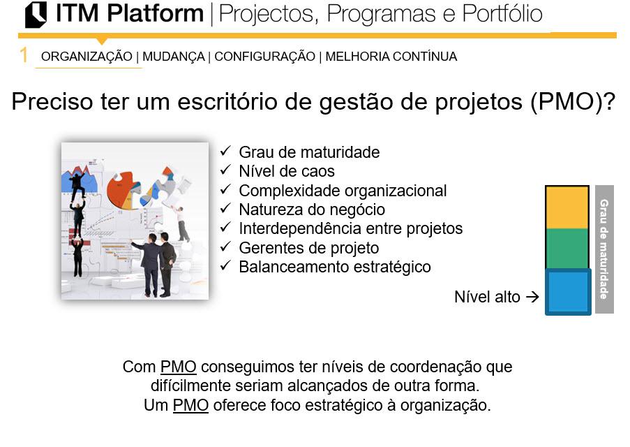 ITM Platform, Preciso ter um escritório de gestão de projetos