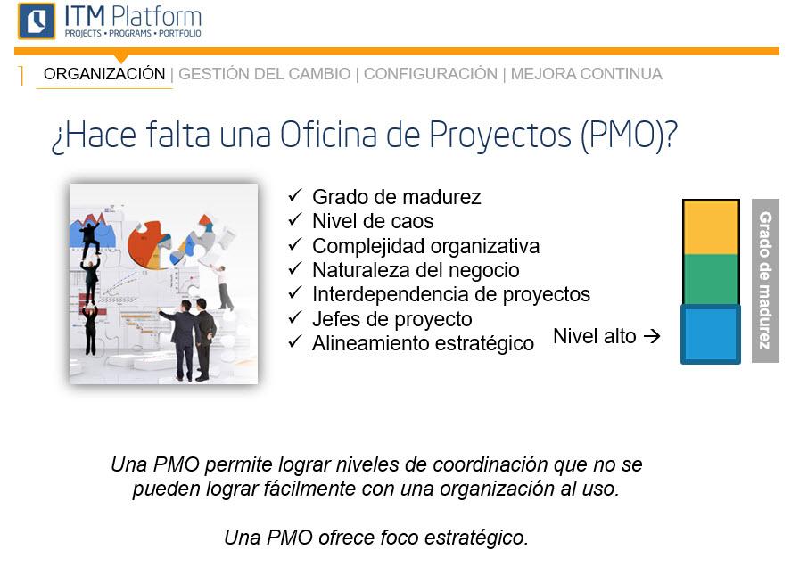 Hace falta una oficina de proyectos, ITM Platform
